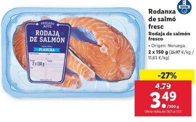 Oferta de Rodaja de salmón fresco por 3,49€