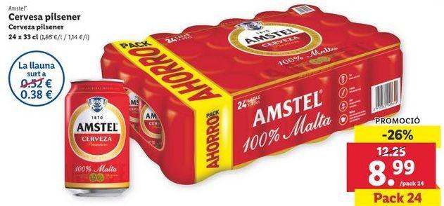 Oferta de Cerveza pilsner Amstel por 8,99€