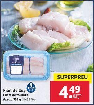 Oferta de Filetes de merluza por 4,49€