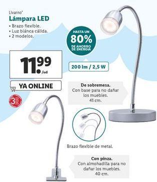 Oferta de Lámpara LED Livarno  por 11,99€