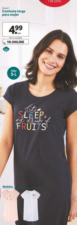 Oferta de Camiseta larga para mujer Esmara  por 4,99€