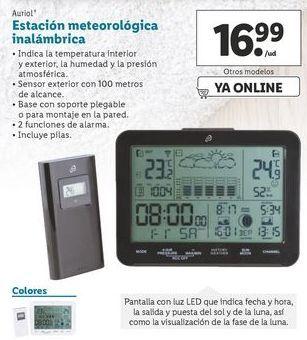 Oferta de Estación meteorológica inalámbrica Auriol por 16,99€