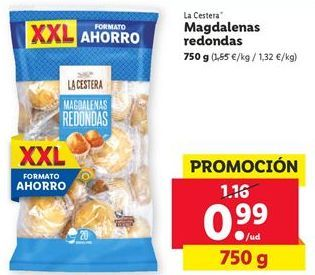 Oferta de Magdalenas redondas La Cestera  por 0,99€