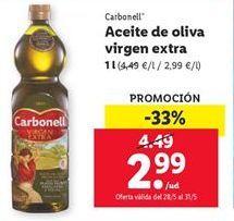 Oferta Aceite de oliva virgen extra Carbonell Lidl