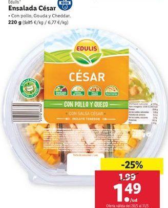 Oferta de Ensalada César Edulis por 1,49€