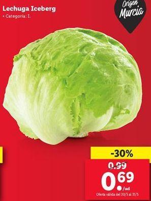 Oferta de Lechuga iceberg por 0,69€