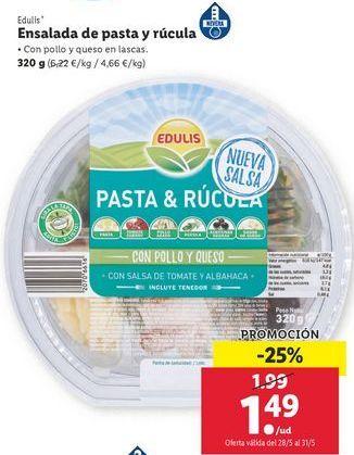 Oferta de Ensalada de pasta y rúcula Edulis por 1,49€