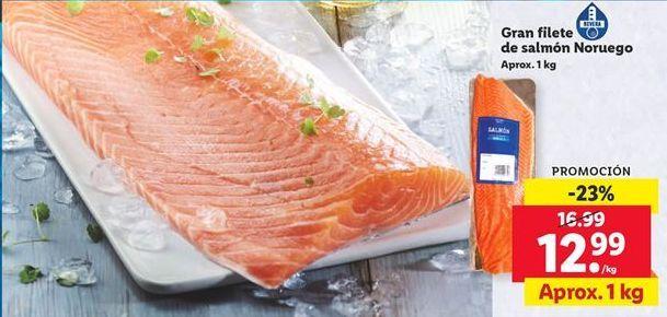 Oferta Gran filete de salmón Noruego Lidl