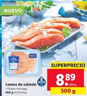 Oferta Lomos de salmón  Lidl
