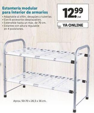 Oferta de Estantería modular para interior de armarios  por 12,99€