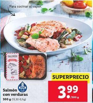 Oferta de Salmón con verduras por 3,99€