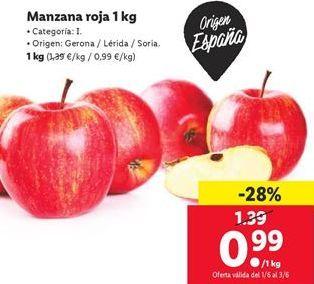 Oferta de Manzana roja  por 0,99€