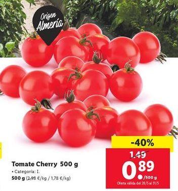 Oferta de Tomate Cherry  por 0,89€