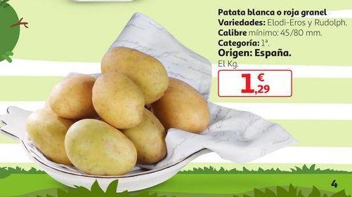 Oferta de Patata Blanca o Roja Granel por 1,29€