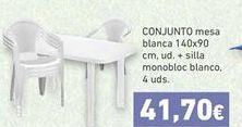 Oferta Conjunto mesa y sillas Hiperdino