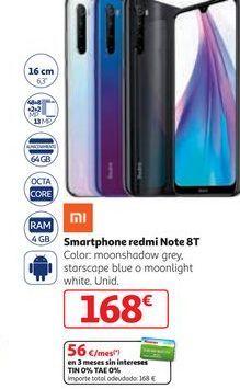 Oferta de Smartphones Xiaomi por 168€