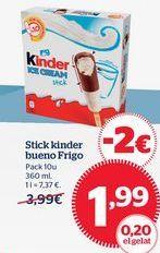 Oferta de Helados Kinder por 1,99€