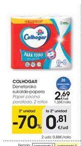 Oferta de Papel de cocina Colhogar por 2,69€