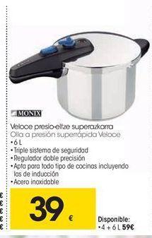 Oferta de Olla a presión Monix por 39€