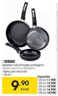 Oferta de Sartén de aluminio Monix por 9,9€