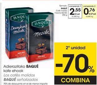 Oferta de Cápsulas de café Baqué Café por 2,77€