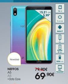 Oferta de Smartphones Neffos por 69,9€