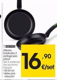 Oferta de Sartén de aluminio Monix por 16,9€