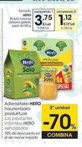 Oferta de Potito de frutas Hero por 3,75€