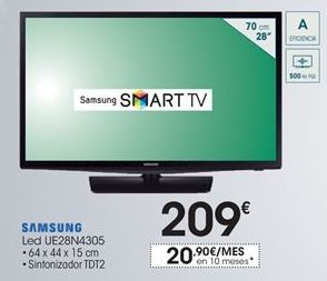 Oferta de Smart tv led Samsung por 209€