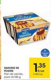 Oferta de Flan de vainilla Danone por 1,35€