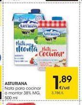 Oferta de Nata para cocinar Central Lechera Asturiana por 1,89€