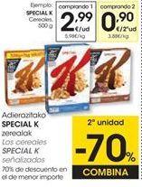 Oferta de Cereales Kellogg's por 2,99€