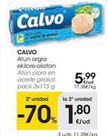 Oferta de Atún claro Calvo por 5,99€