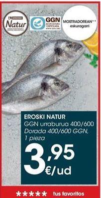 Oferta de Dorada eroski natur por 3,95€