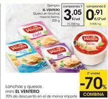 Oferta de Queso en lonchas El Ventero por 3,05€