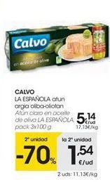 Oferta de Atún claro Calvo por 5,14€
