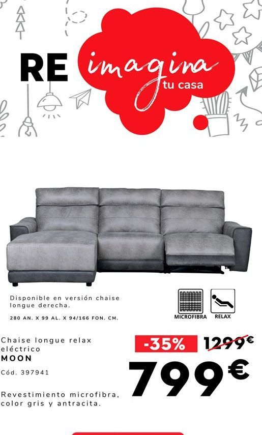 Oferta de Chaise longue Moon por 799€