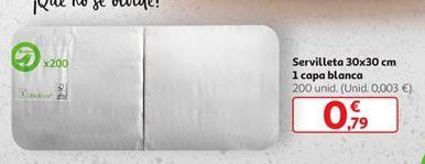 Oferta de Servilleta 30x30 cm por 0,79€