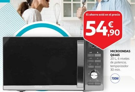 Oferta de Microondas Q6465 por 54,9€