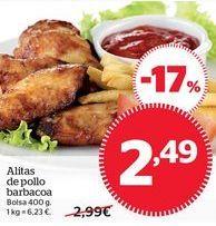 Oferta de Alas de pollo barbacoa por 2,49€