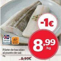 Oferta de Filetes de bacalao por 9,99€