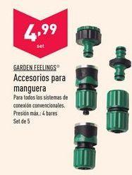 Oferta de Accesorios para mangueras Garden Feelings por 4,99€