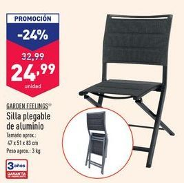Oferta de Silla plegable Garden Feelings por 24,99€