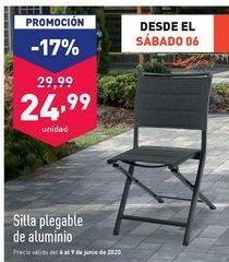 Oferta de Silla plegable por 24,99€