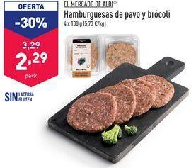 Oferta de Hamburguesas de pavo por 2,29€