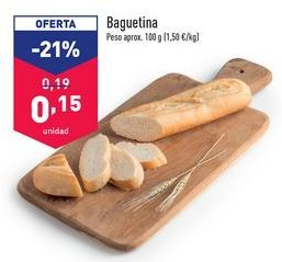Oferta de Baguette por 0,15€