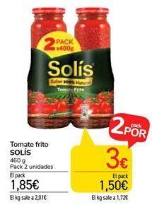 Oferta de Tomate frito SOLÍS por 1,85€