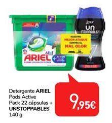 Oferta de Detergente ARIEL Pods Active UNSTOPPABLES por 9,95€
