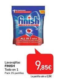 Oferta de Lavavajillas FINISH por 9,85€