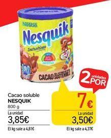 Oferta de Cacao soluble NESQUIK por 3,85€